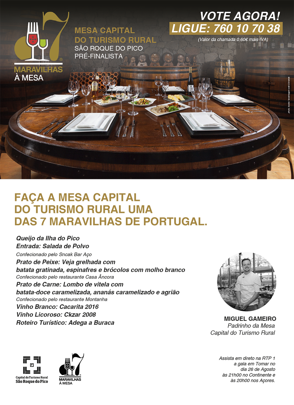 VOTE AGORA ! Mesa Capital do Turismo Rural